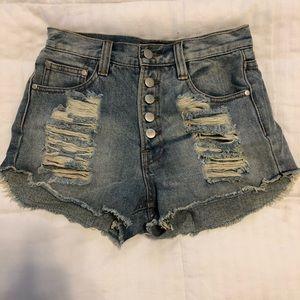 Minkpink high waisted denim shorts